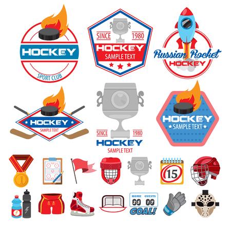 Ice hockey logos, icons, labels, badges and design elements Illusztráció