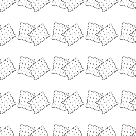 Seamless pattern with outline drawings crackers. Иллюстрация