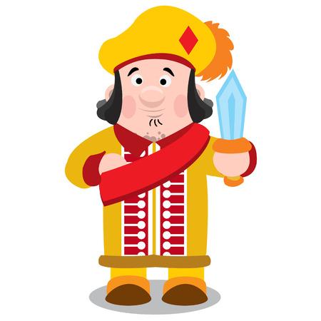 Jack of diamonds. Cartoon characters vector.
