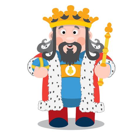 King of clubs. Cartoon characters vector.