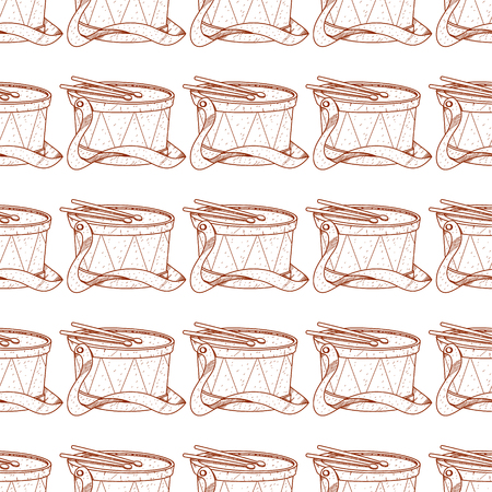 Drum seamless pattern.