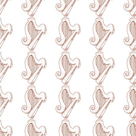 Harp seamless pattern.