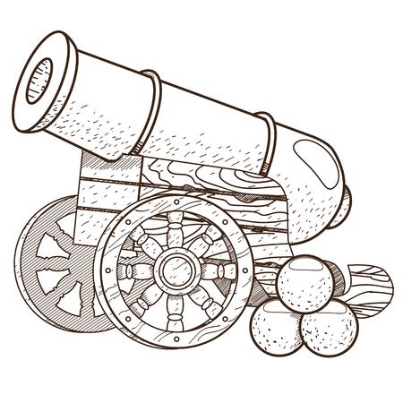 картинка раскраска пушка татьяна красивая