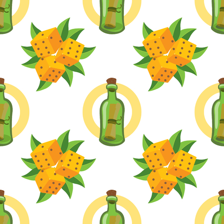 Seamless pattern for design surface Message in a bottle. Banque d'images - 113441098