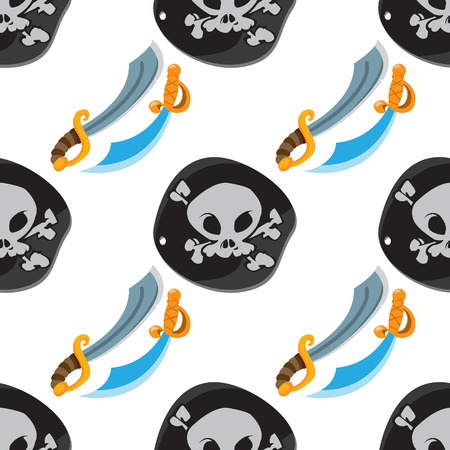Seamless pattern for design surface Black Label pirate symbol.