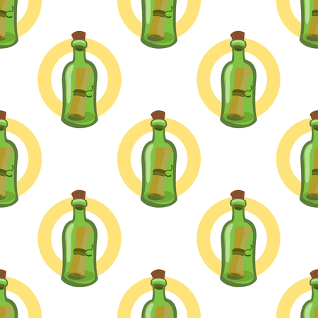 Seamless pattern for design surface Message in a bottle.