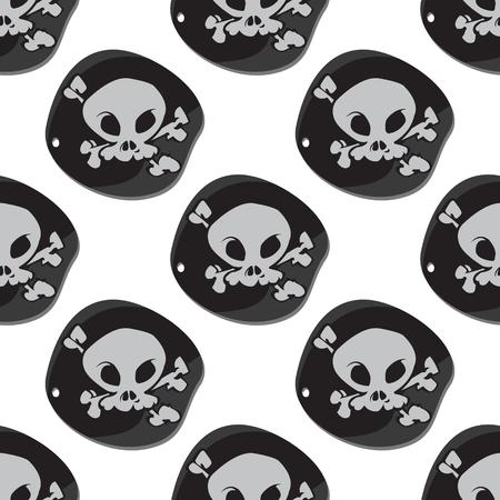 Seamless pattern for design surface Black Label pirate symbol.