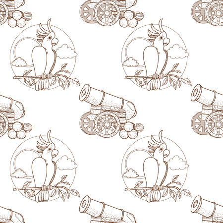 Seamless pattern for design surface Cannon with nuclei.