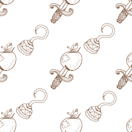 Seamless pattern for design surface Hook arm.