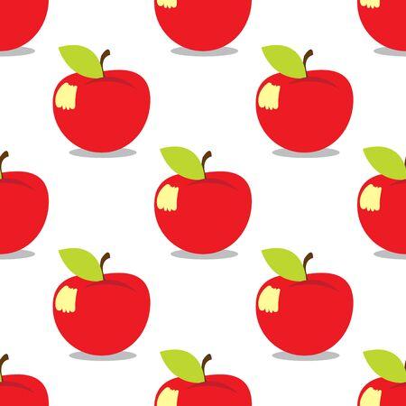 Apple seamless pattern on a white  for design surface Ilustração