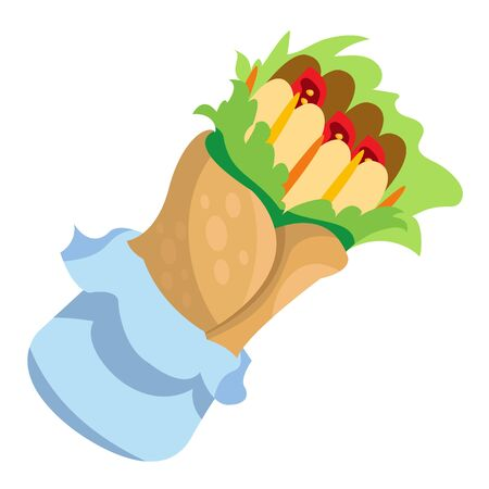 Enchilada . Traditional Mexican cuisine. Vector illustration. Illustration