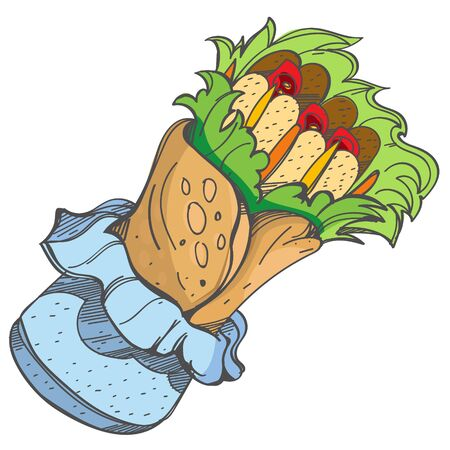 Enchilada . Traditional Mexican cuisine. Vector illustration