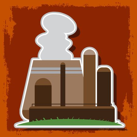 Nuclear Power Plant. Illustration