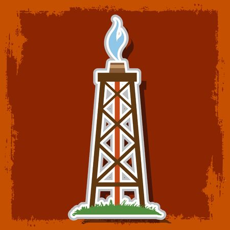 Oil, gas rig logo.