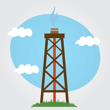 Oil, gas rig logo on a white background