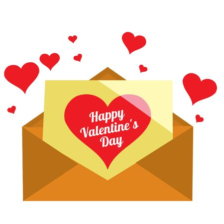 Drawing paper envelope with red pepper for greetings and declarations of love. Design items for Valentines Day, weddings, romantic rendezvous
