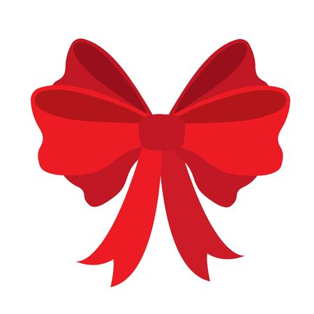 Red ribbon for gifts, greeting cards and postcards Çizim