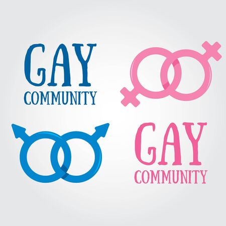 Hand drawing gender symbols of gay marriage