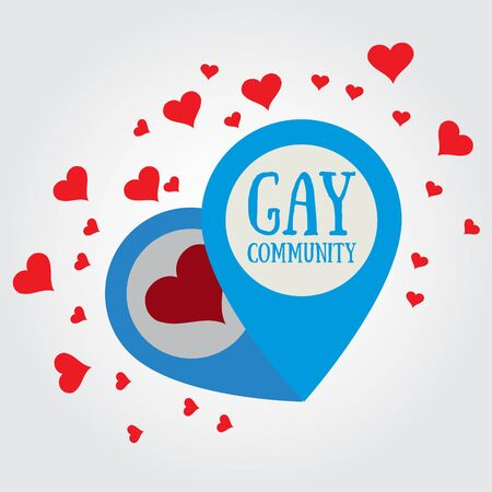 The icon with the word gay community Çizim