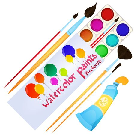 Packing watercolors and a few brushes. Stationery