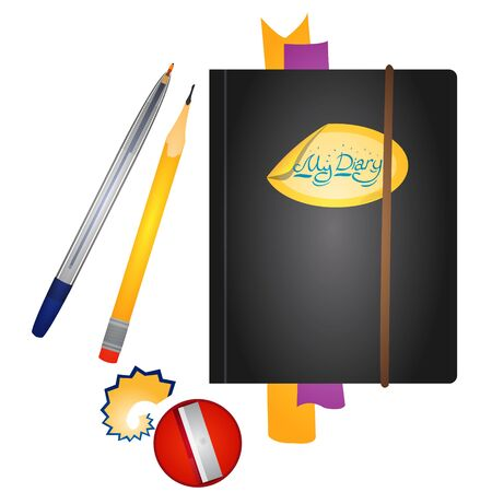 Diary and writing materials. Stationery.