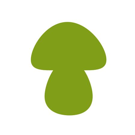 A mushroom symbol. A template for laser cutting.