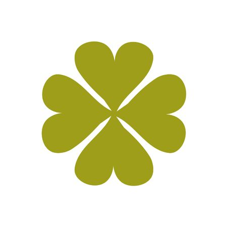 A four-leafed clover symbol. A template for laser cutting. Иллюстрация