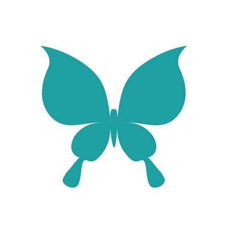 A butterfly symbol. A template for laser cutting. Иллюстрация