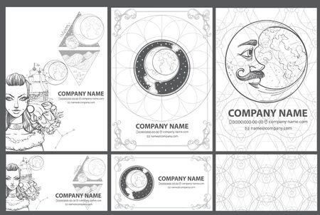 A set of beautiful corporate style template in the space style.