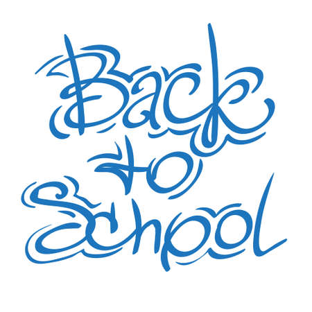 Back to school sign. Lettering for the design of leaflets and posters.