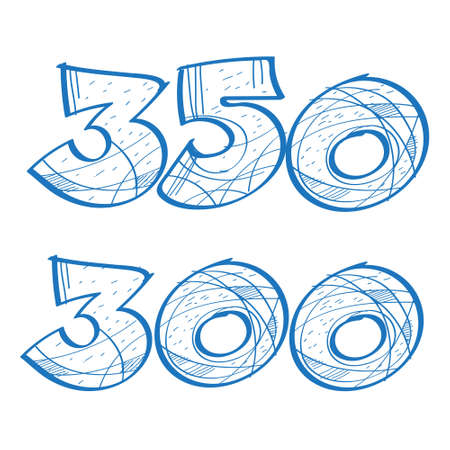 Figures 300 and 350 are a sketch. The elements for infographics with a hand-drawing style. 免版税图像 - 151754880