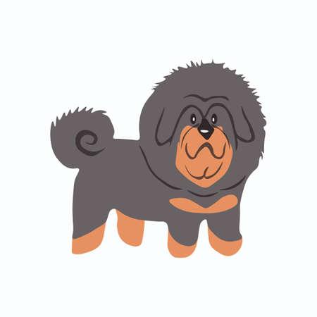 Tibetan Mastiff dog icon. Drog-Khyi.