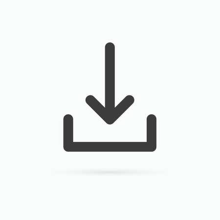 Download icon. Vector illustration.
