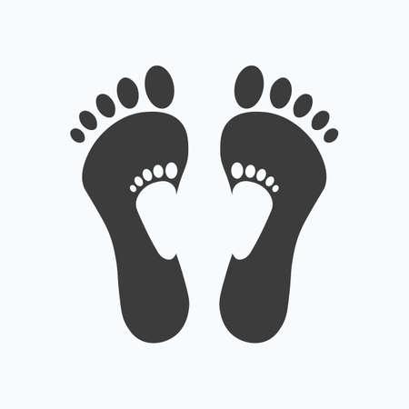 Footstep vector. Human footprints icon.