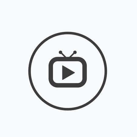 Tv icon. Vector illustration. Illustration
