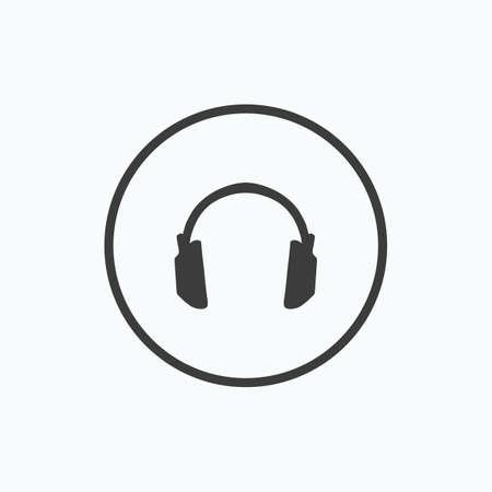 Headphone. Vector illustration.