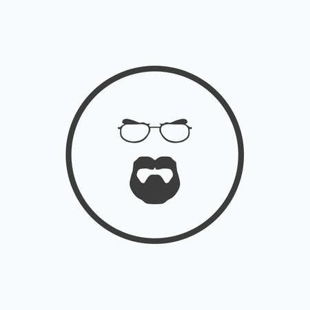 Beard men. Vector illustration.