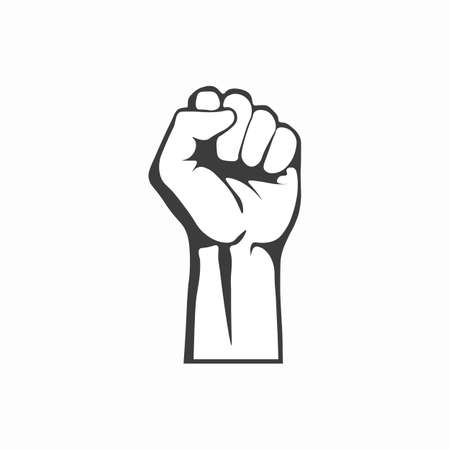 Clenched fist icon. Vector illustration