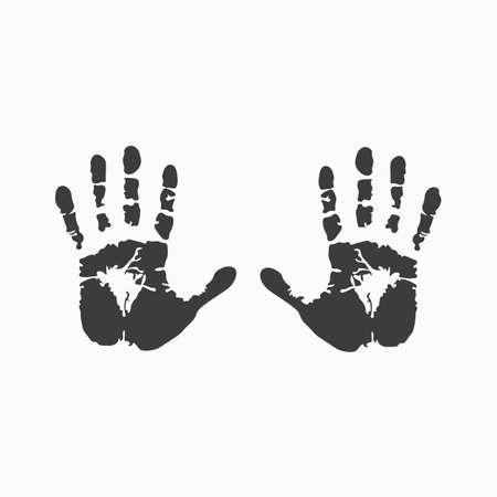 Human handprint. Vector illustration.