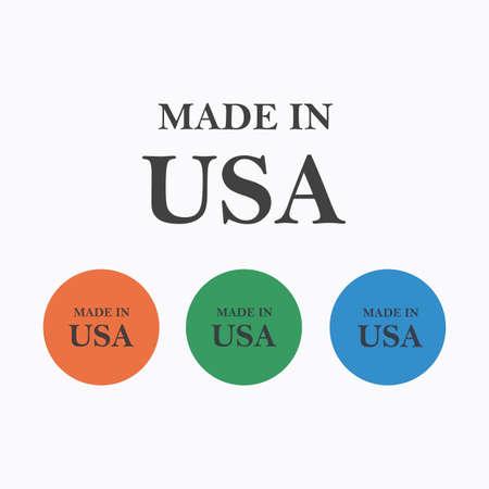 Made in USA. Vector illustration. Illustration