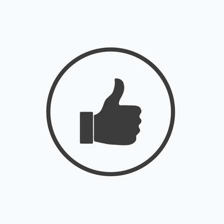 Thumb up icon. Vector illustration. Illustration