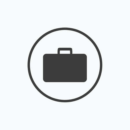Briefcase, portfolio icon. Vector illustration. Illustration