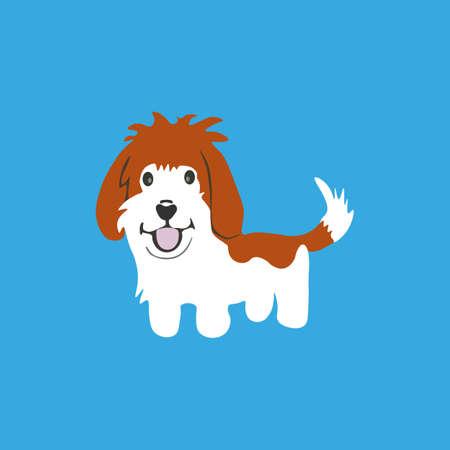 Basset griffon icon. Vector illustration.