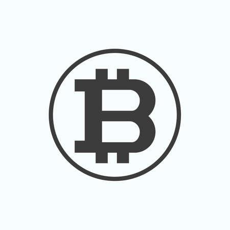 Bitcoin Physical bit coin. Vector illustration. Illustration