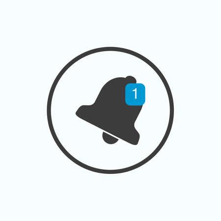 Bell icon. Vector illustration. Illustration