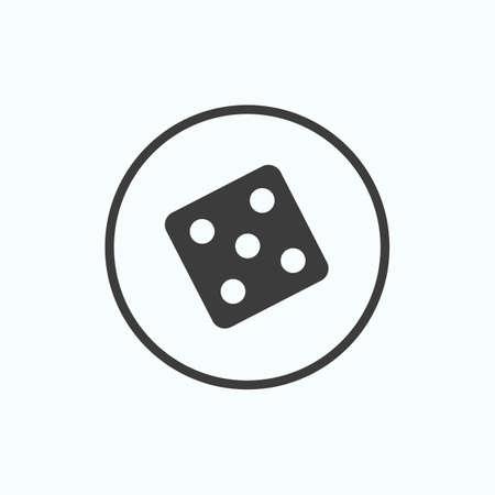 Dice icon. Vector illustration. Illustration