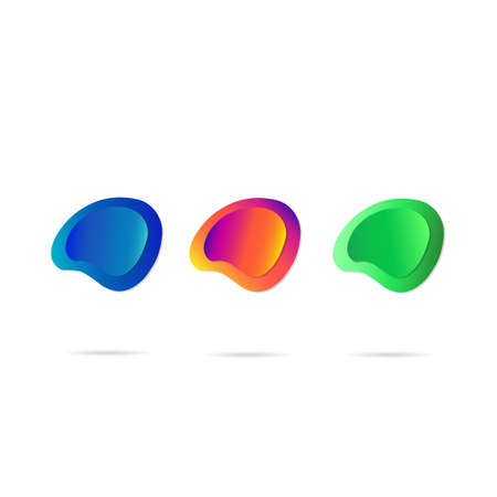 Colorful geometric button background. Illustration