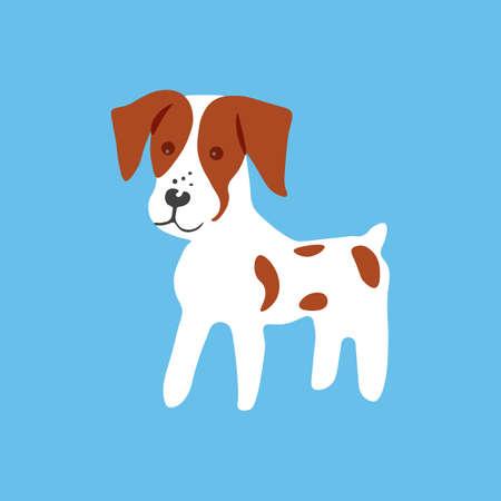 Breton dog icon. Vector illustration. Illustration