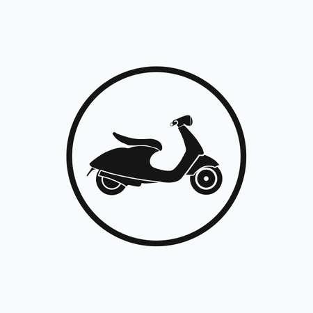 Scooter. Vector illustration. Illustration