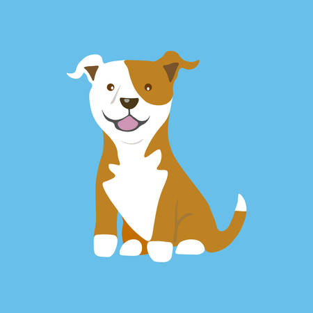 American Pitbull icon. Vector illustration.
